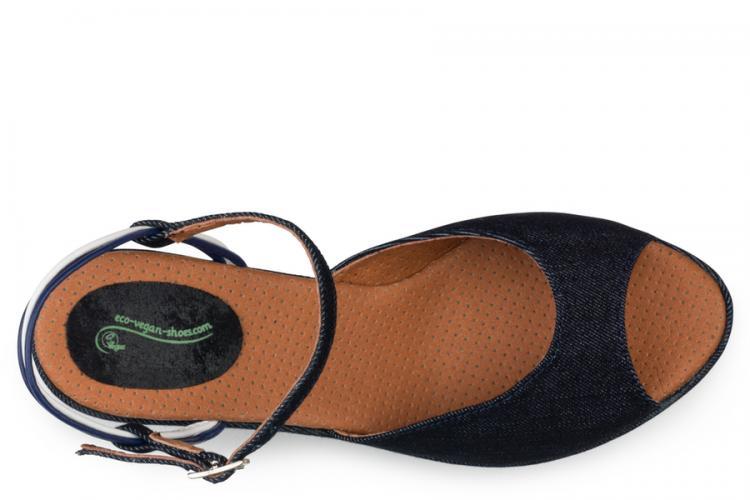 Eco Vegan Shoes Victoria - Wedge - Jeans